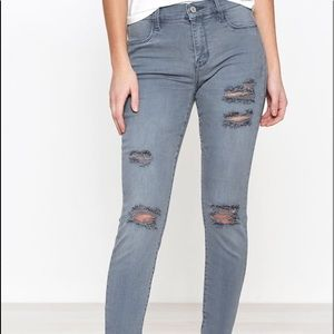 Gray Distressed PacSun Jeggings